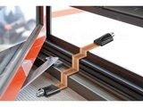 Doorvoerkabel Raamdoorvoer coax flat Audio-Video_