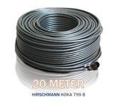 Hirschmann Koka 799 zwart + 1x EX-6 Voorgemonteerd 20 Meter_