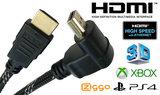Blueqon - 1.4 High Speed Haakse HDMI kabel - 3 m - Zwart_