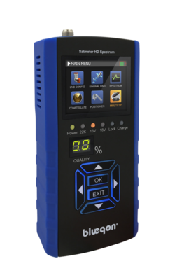 Blueqon BSF-700 Blue Satmeter HD Spectrum - Satellietmeter | Satfinder