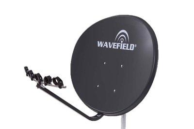Wavefield WV85THDS 85cm ,4K Multifocus Schotel Antenne, Donker Grijs