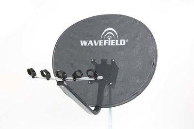 Wavefield WV85PHDS 85cm ,4K Multifocus Schotel Antenne, Donker Grijs, Geperforeerd