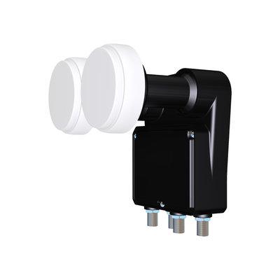 Inverto Quad Duoblock 23mm LNB 4.3° voor 80cm schotel antenne