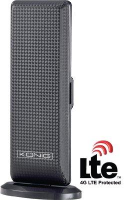 König Design DVB-T Binnenantenne met LTE filter - KN-DVBT-IN52L - 28 dB - Zwart