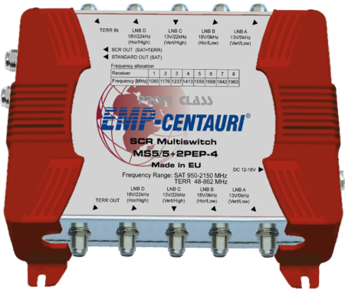 EMP-Centauri MS5/5+2PEP-4 unicable multiswitch