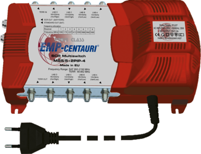 EMP-Centauri MS5/5+2PIP-4 unicable multiswitch